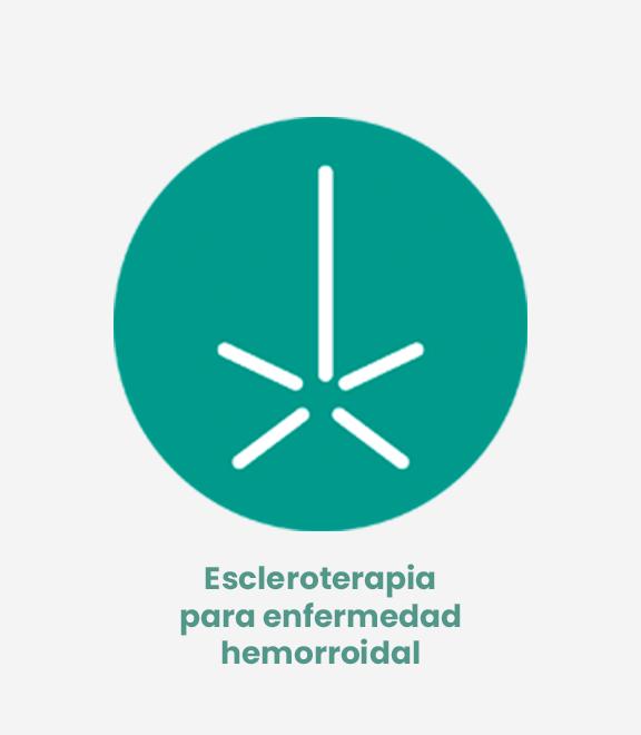 Escleroterapia hemorroides (coloproctología)